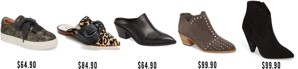 Caslon Sneaker   |   Louise et Cie Leopard Slide   |   Treause & Bond Studded Mule   |   1.State Studded Bootie   |   Vince Camuto Boot