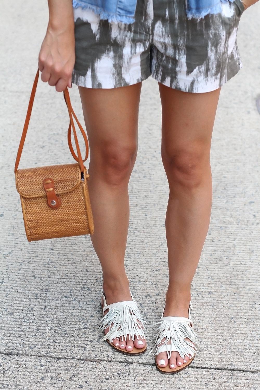 White Fringe Sandals for Summer