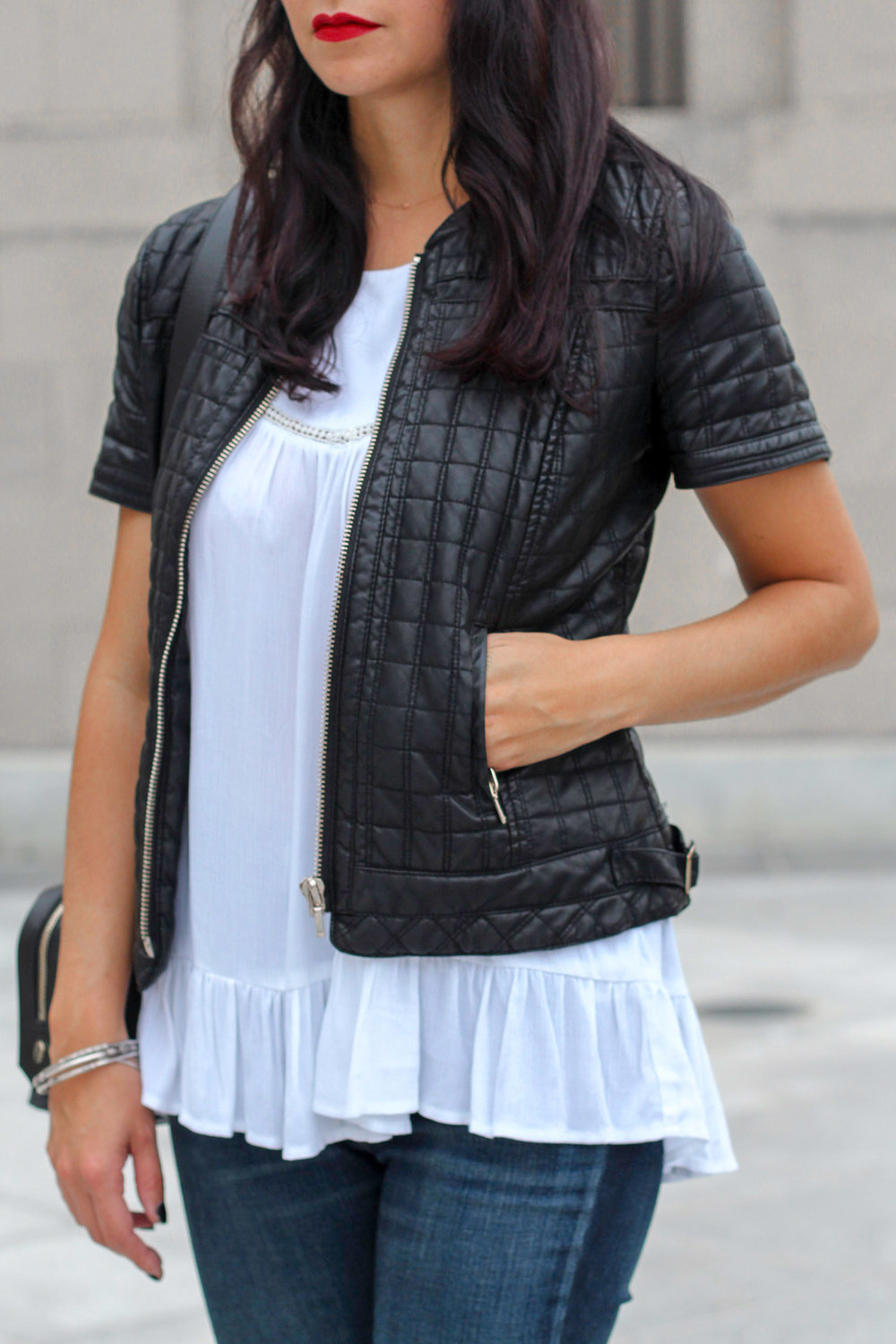 Faux Leather Jacket for Summer