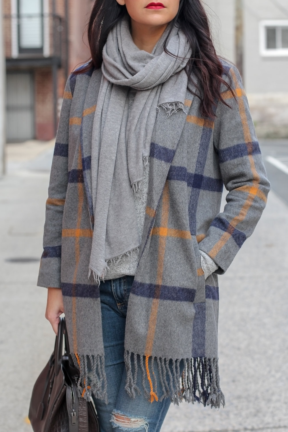 Layering in Fall, Fringe Coat