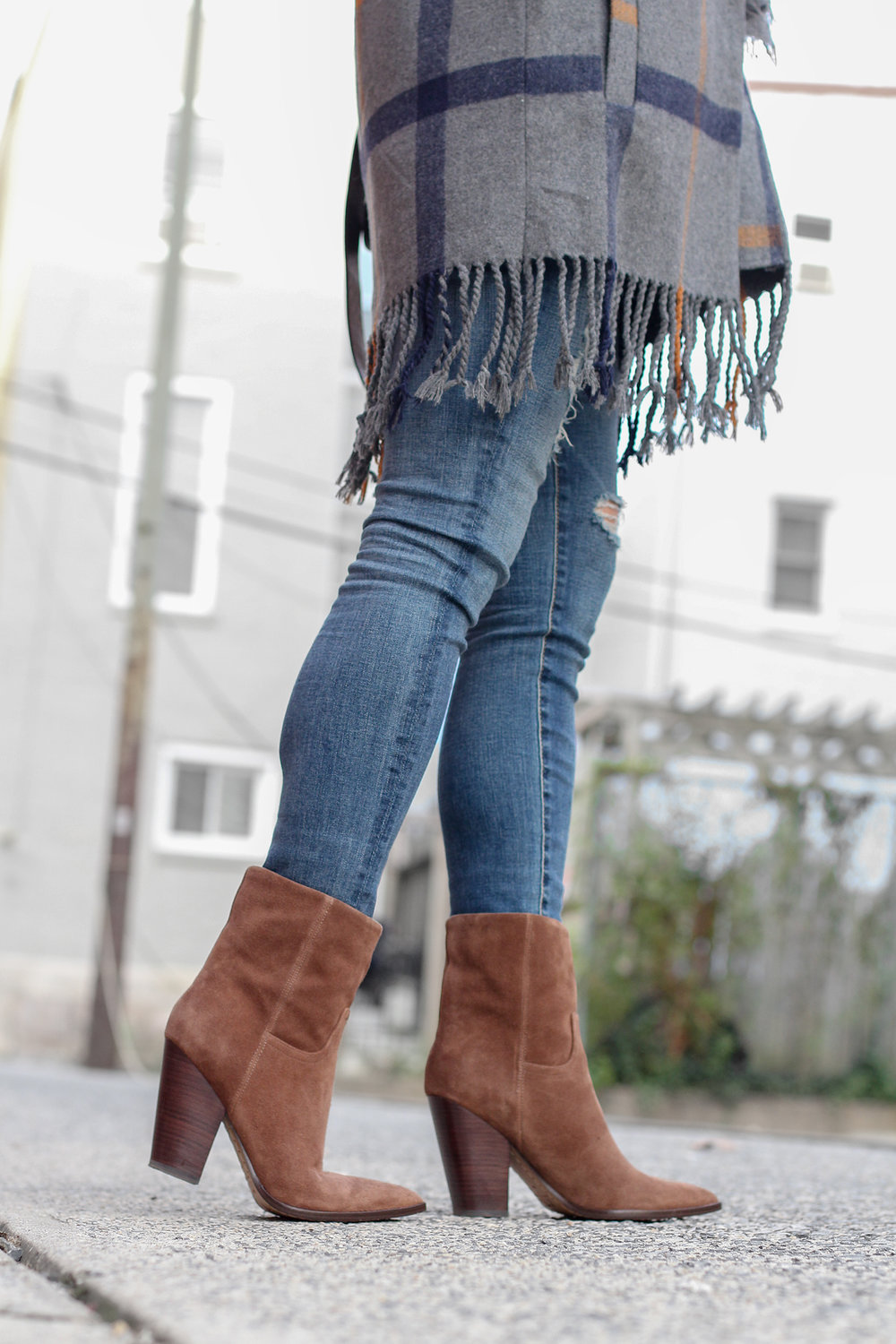 How to Style Cognac Boots, Cute Cognac Ankle Boots