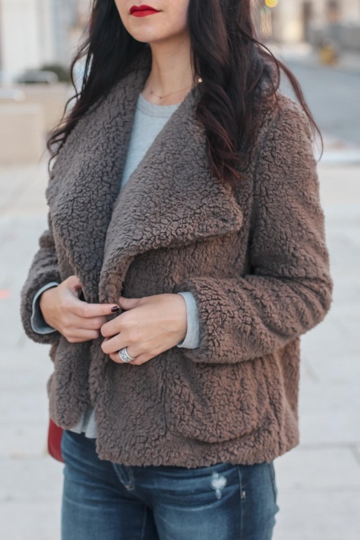 Teddy Bear Coat, BB Dakota, Sherpa Coat, Teddy Coat Style