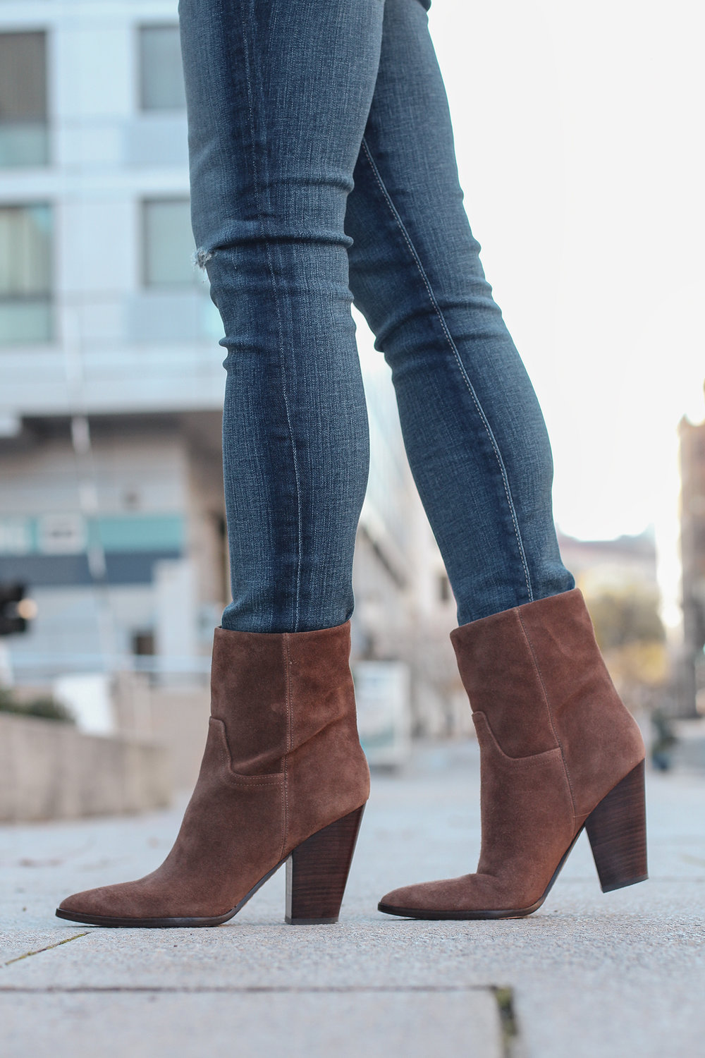 Cute Brown Ankle Boots, Marc Fisher Boots, How to Style Brown Boots