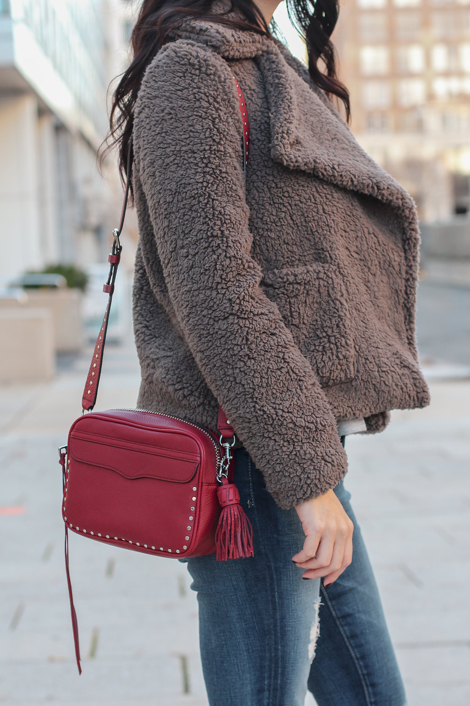 Rebecca Minkoff Bryn Bag, Camera Bag, Teddy Coat, Cozy Coat, Winter Coat Style