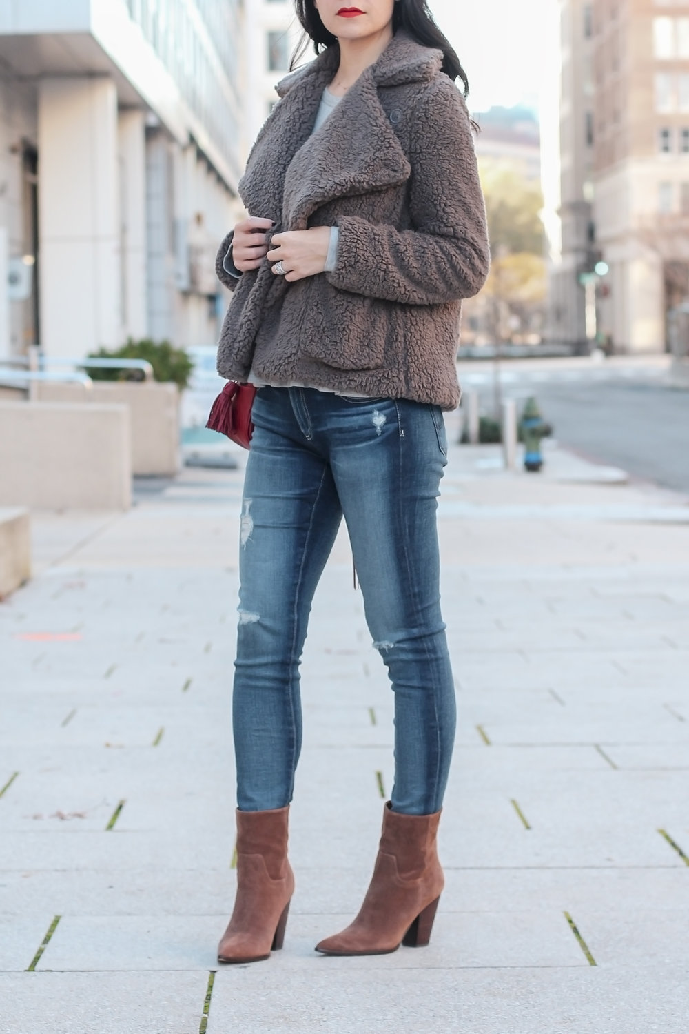 Cute Winter Style, Winter Outfits, Winter Coat Outfits, Teddy Coat Outfit