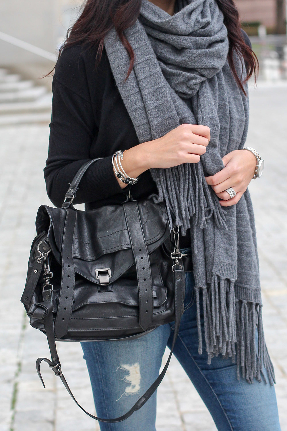Proenza Schouler PS1 Bag, Oversized Scarf