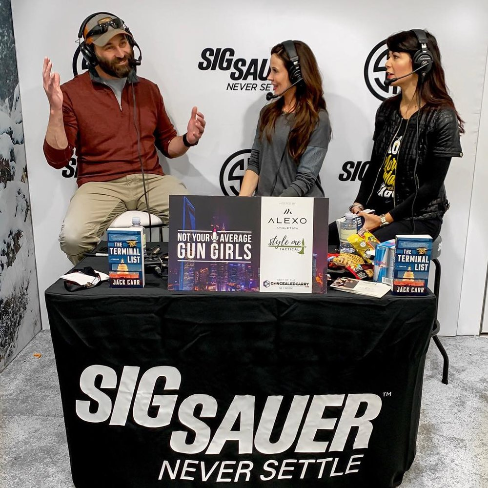 Jack Carr, Not Your Average Gun Girls, Sig Sauer, SHOT Show, Alexo Athletica, Style Me Tactical