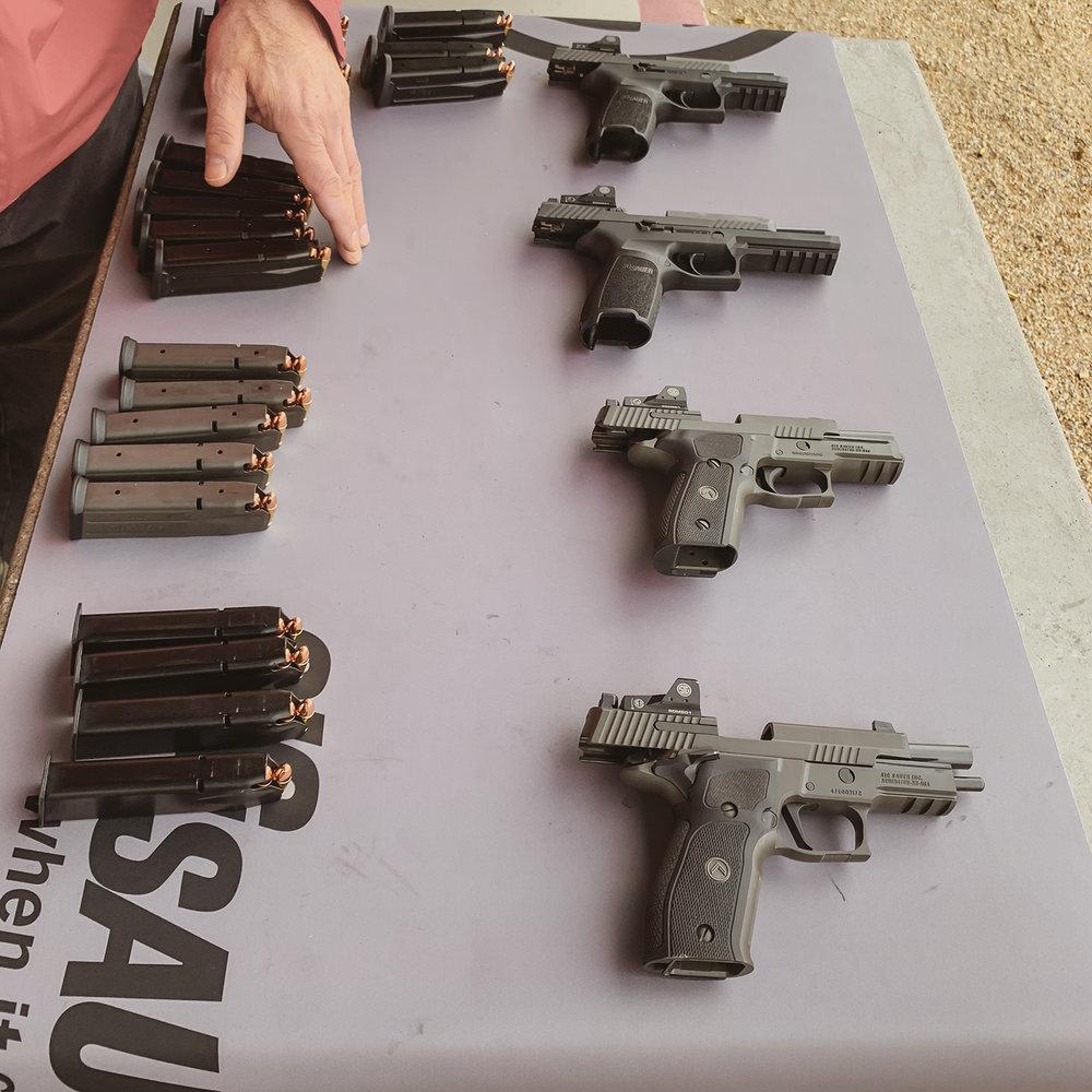SIG Legion 226 with Romeo1 sights, SIG Range Day, SHOT Show