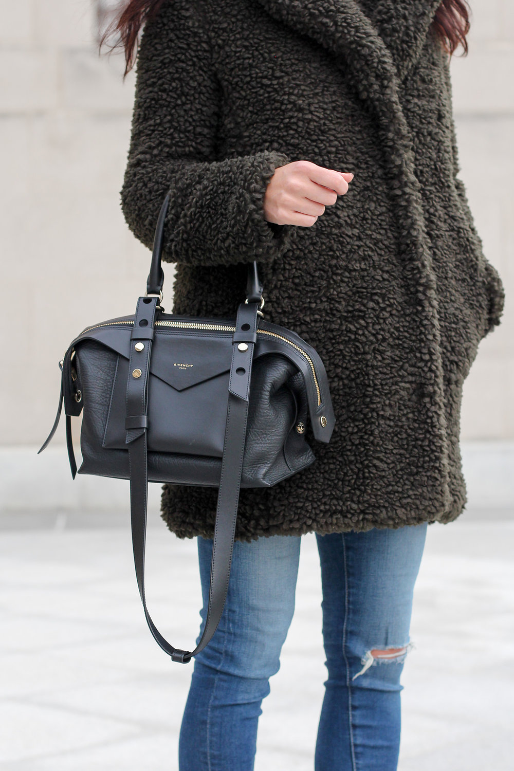 Cozy Cute Winter Outfit, Givenchy Sway Bag