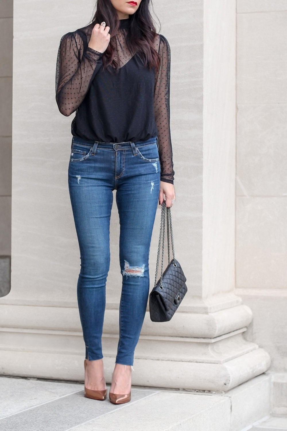 Date Night Outfit, Lace Body Suit Look