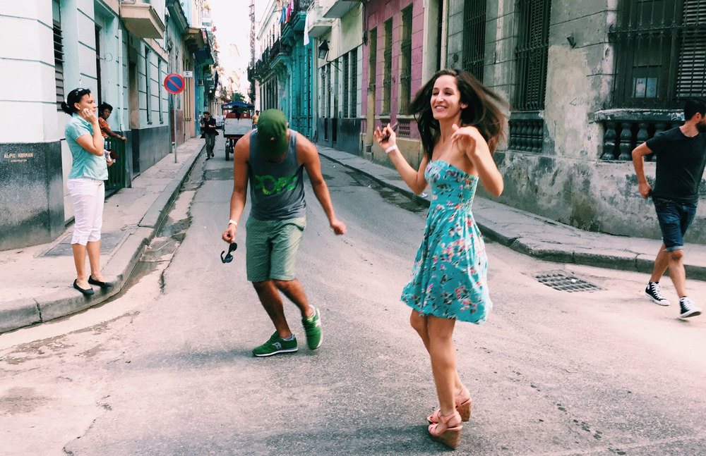 "Found some people ""unplugging"" in the streets of Havana."