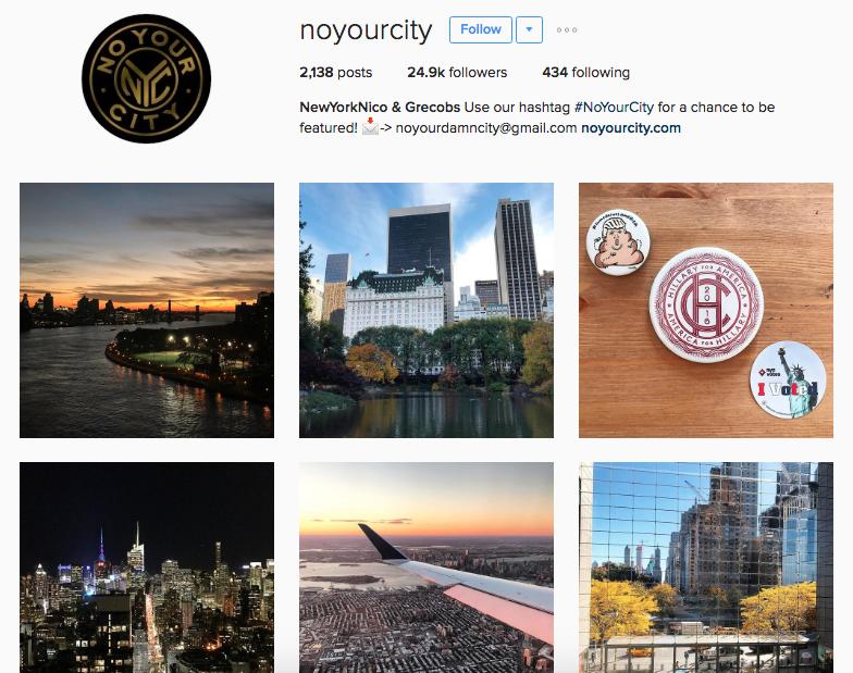 no your city instagram