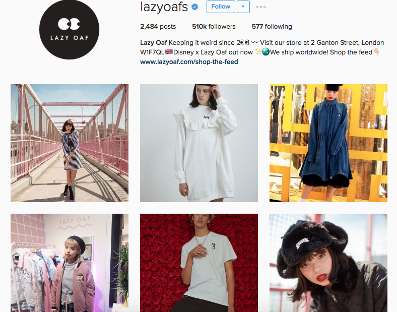 lazy oaf instagram