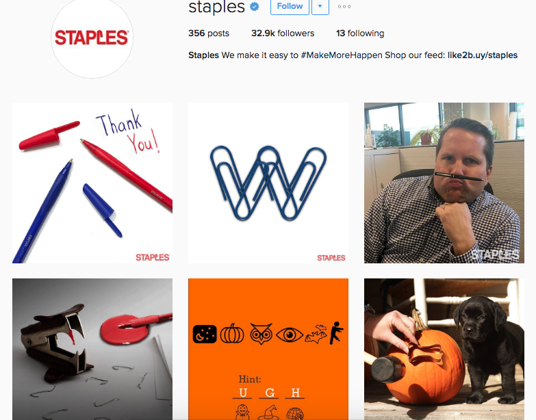 staples instagram