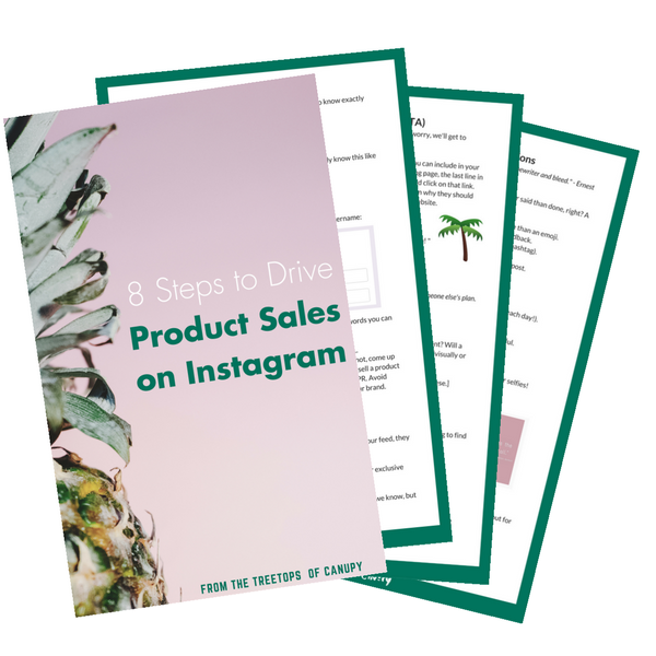 Canupy 8 steps for product sales on instagram