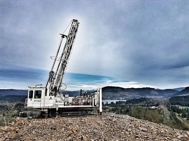 The White Whale is back up and rocking! . . . #DrillTech #Sandvik #drillbit #drilllife #drillers #drill #Drillit #blastholedrilling #blastholes #blasthole #equipment #constructionequipment #miningcontractor #dirtlife #operator #dirtwork #miner #aggregate #ibuildamerica #aridrilling #aggregate
