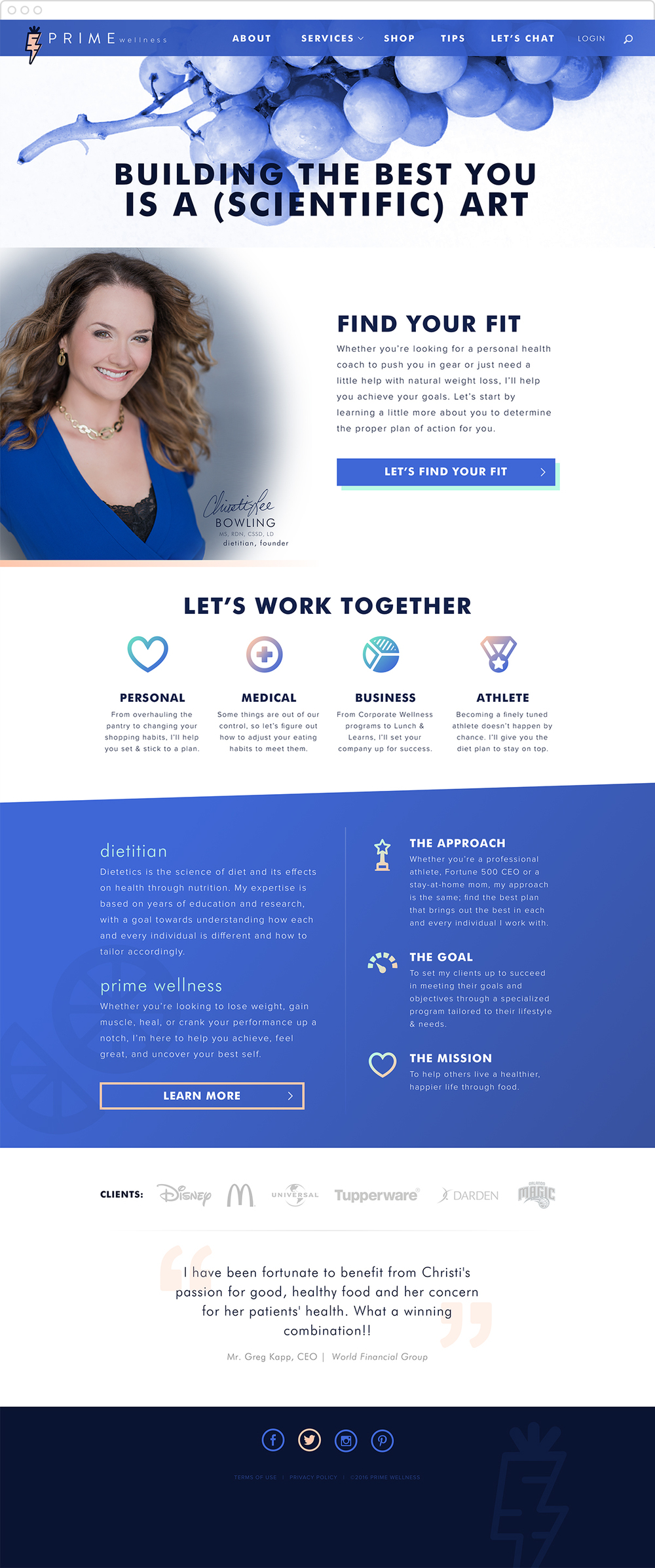 Dietitian Website Design