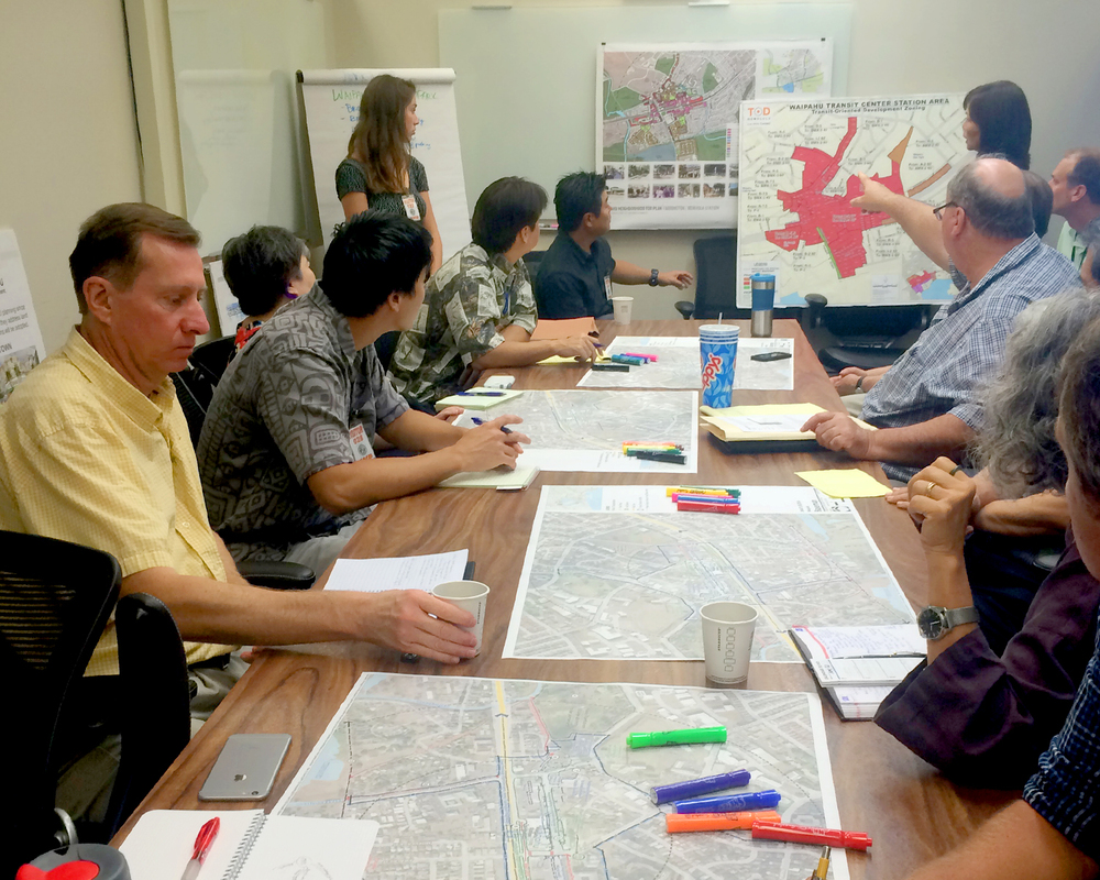 Waipahu TOD Action Plan Charrette meeting.