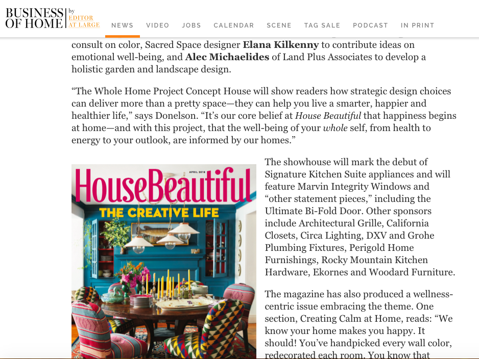 House Beautiful Editor at Large Announcement