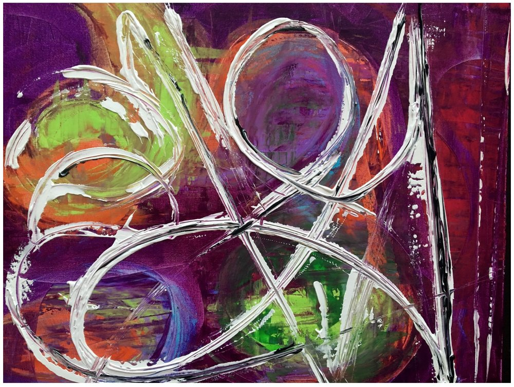 AUCTION: CONTINUE A PURPLE THEME WITH THIS PAINTING BY SEBASTIAN STUTZ