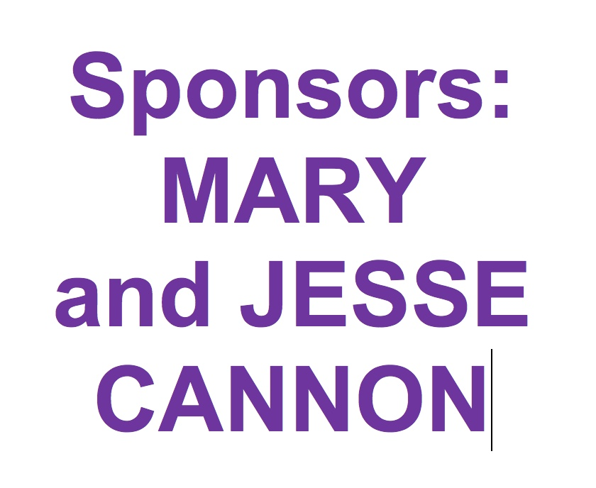 SPONSOR:THANK YOU MARY & JESSE AND KEEP FIGHTING