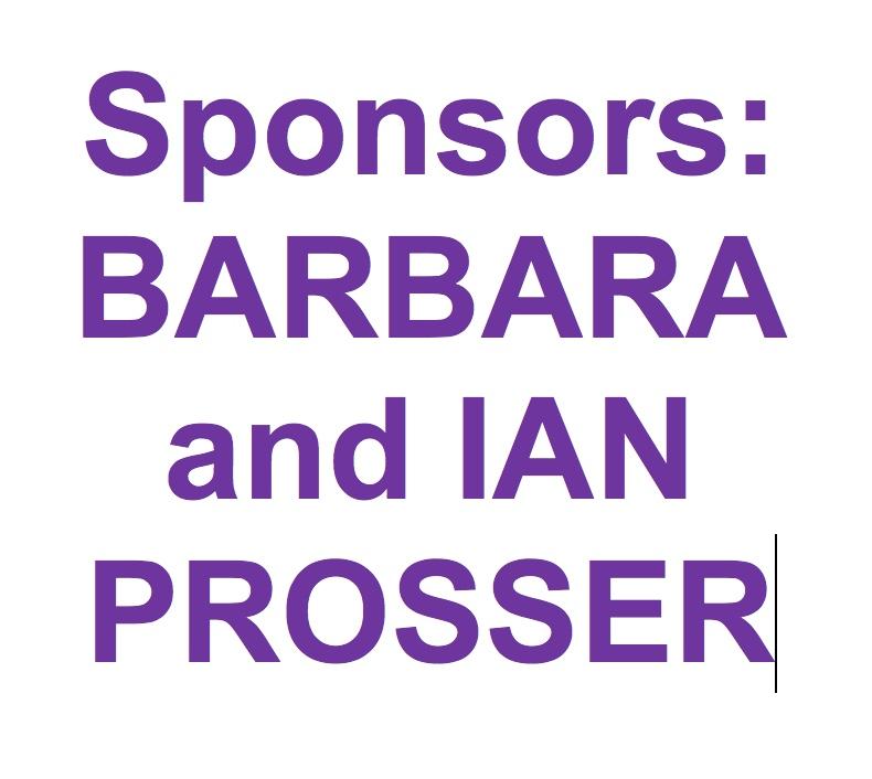SPONSOR: THANK YOU YET AGAIN IAN & BARBARA