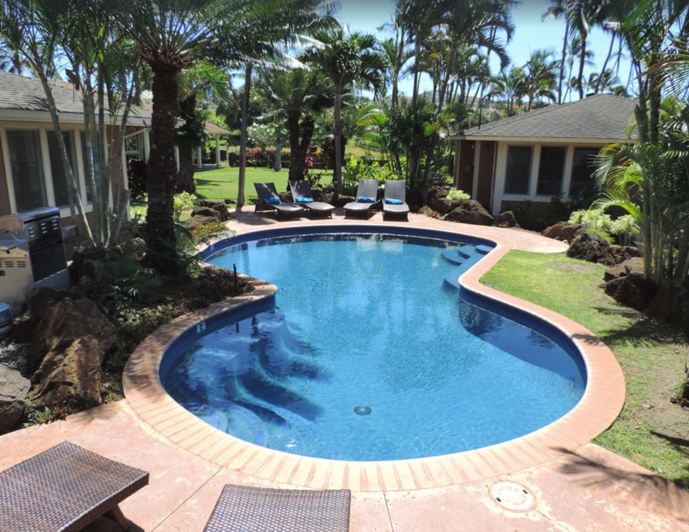 The property's private pool