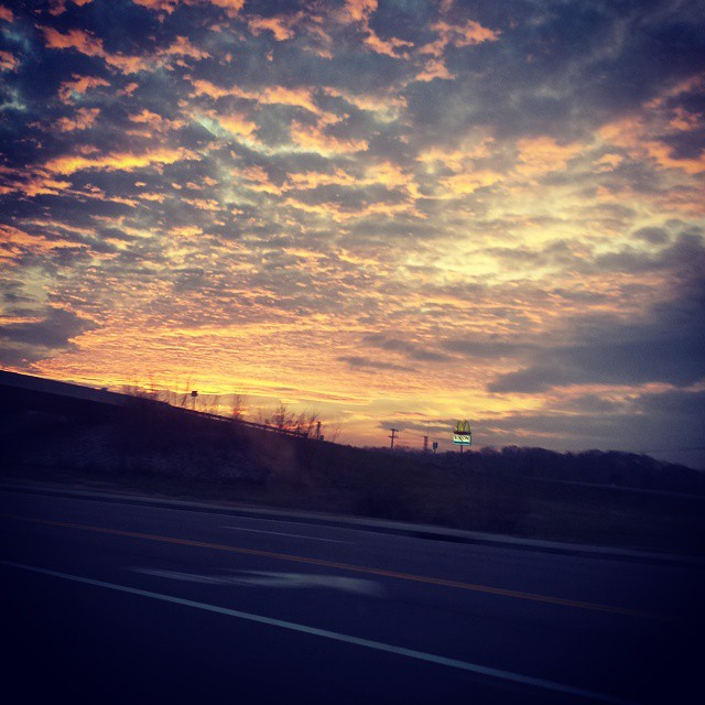 God's work. 12.1.14   #winter #december #sunset #sky #color #love #clouds #beauty #breathtaking #beautiful