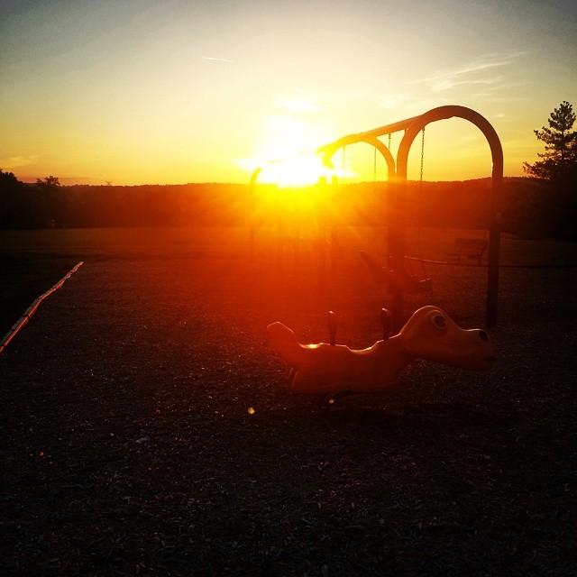 #warm #sunset #overthemountains #attheplayground #beautiful