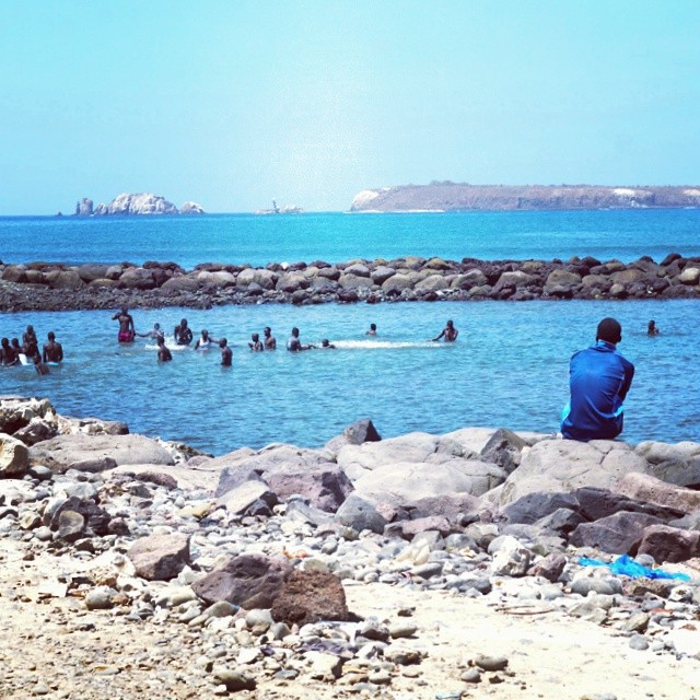#Dakar #Senegal #WestAfrica #African #Beach #Blue #mountains #water #people #photography #nayyarphotography