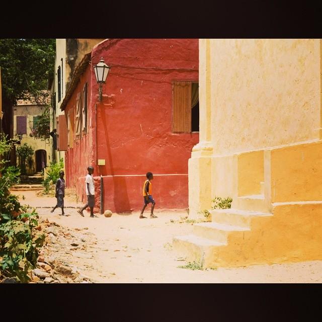 #GoreeIsland #Senegal #WestAfrica #French #Color #children #futball #photography #nayyarphotography