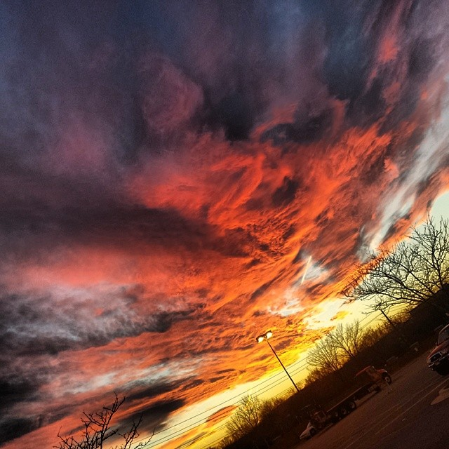 Sunset 1.20.14 #dmv #sunset #red #orange #yellow #dc #maryland