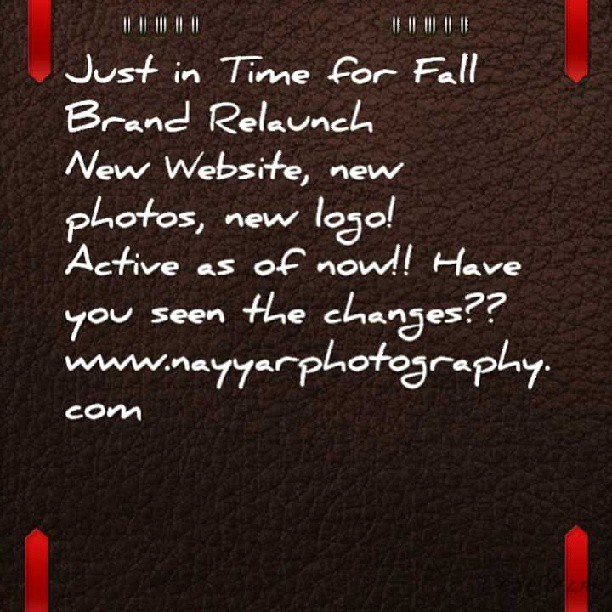 Www.nayyarphotography.com #nayyarphotography #portrait #photographer #brand #relaunch #allnew #startingfresh #fall #season #change #new #logo #newphotos #newwork #website #checkitout #passionate #determined