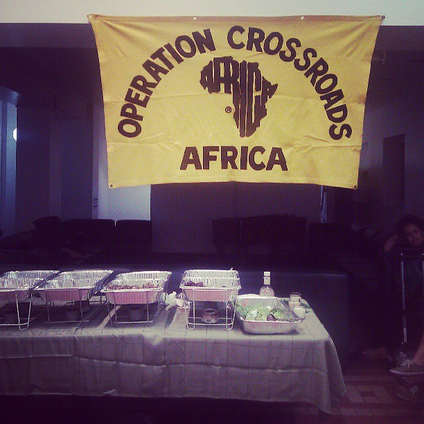 Gonna be a great weekend and summer! #operationcrossroadsafrica #almamater #onthejob #doingwhatilove
