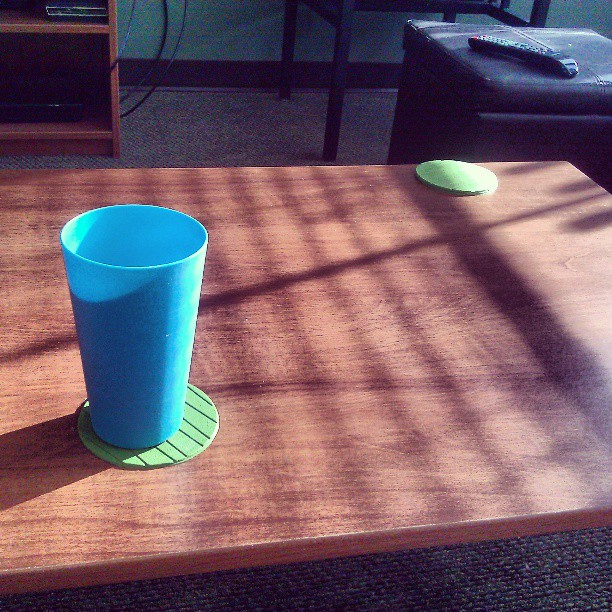 While I'm chillin… #friday #afternoon #blue #cup #green #cupholder #leadinglines #sunlight #shadow