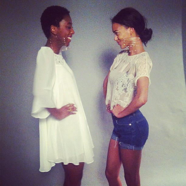 beadsbyaree: Our Beads Byaree Girls on set yesterday! 😃 #fun with photographer @illuminousone (Taken with instagram)
