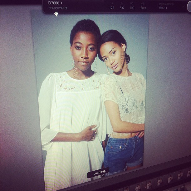 beadsbyaree: The ladies #behindthescenes shot by @illuminousone #beadsbyaree (Taken with instagram)