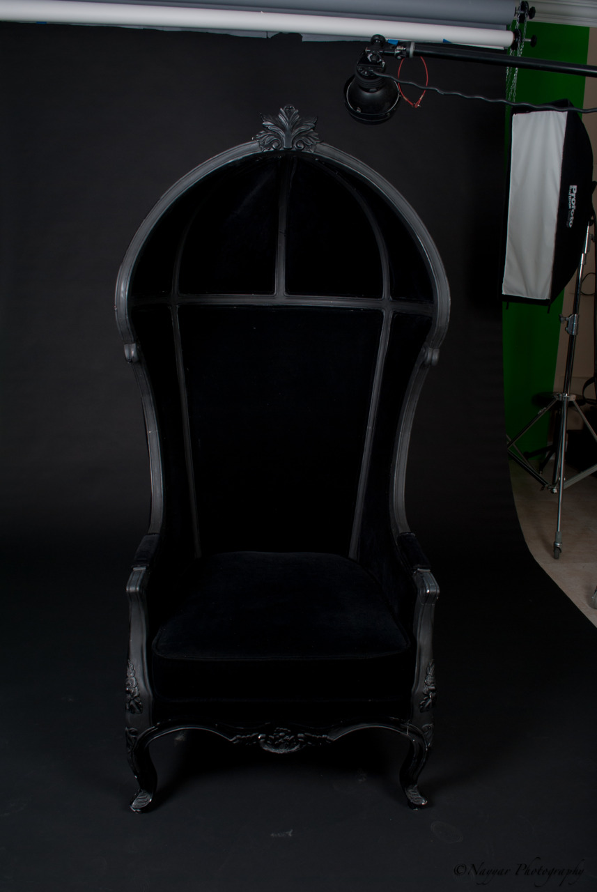 Peep this chair! From a Gothic inspired Engagement shoot! Photos coming soon!