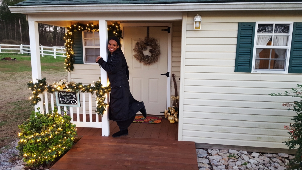 Me Outside the Tiny House in Nashville Area