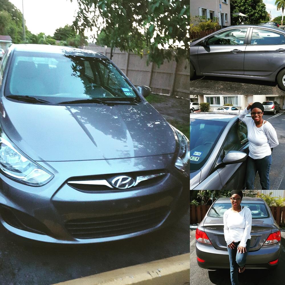Our Hyundai Accent rented from Enterprise | Zaakirah Nayyar