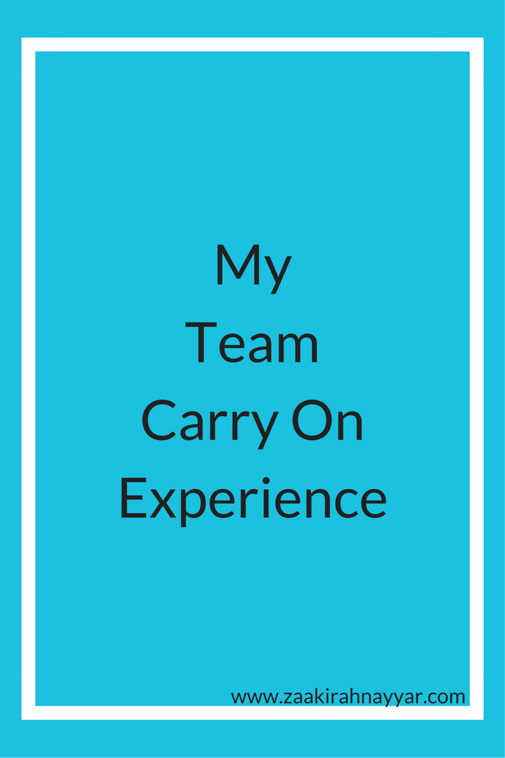 Carry On Travel Experience | Zaakirah Nayyar