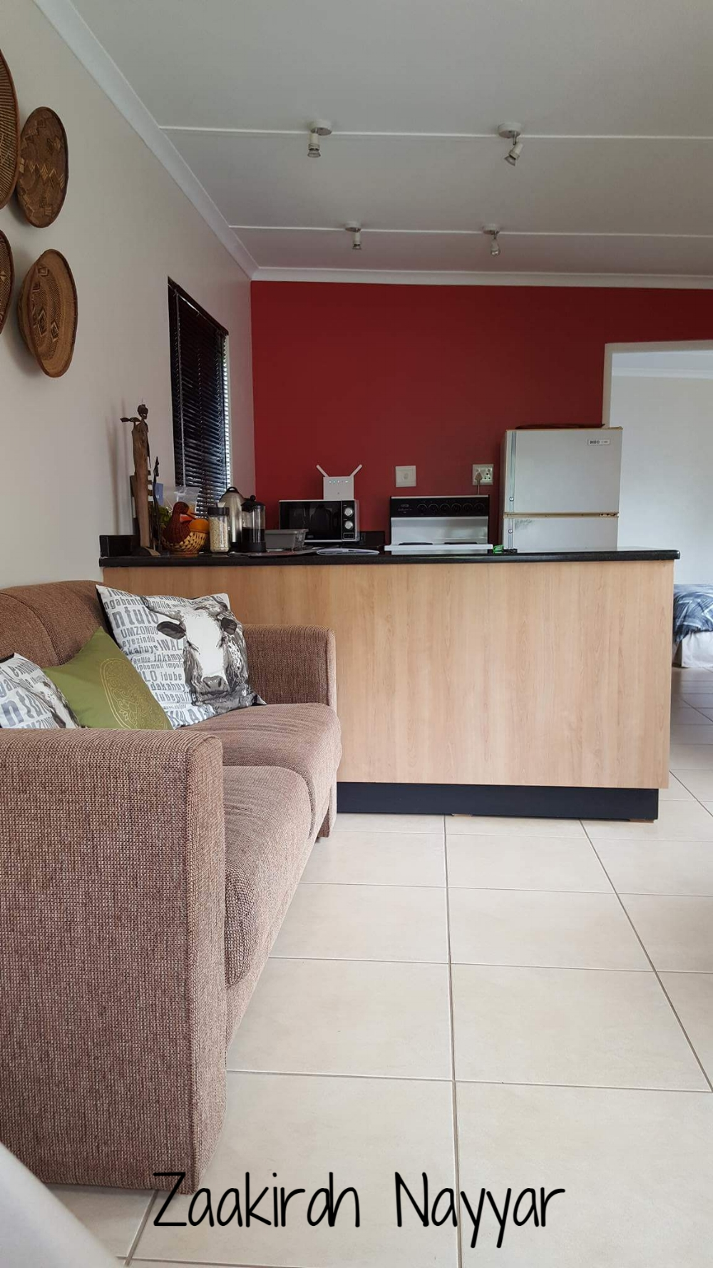 Airbnb Kitchen View | Opposite side of living room area | Zaakirah Nayyar