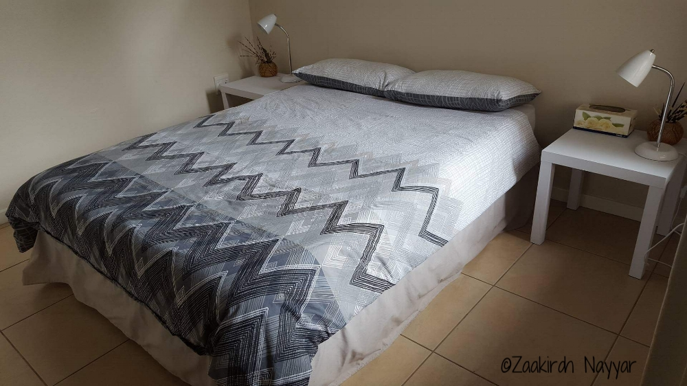 Airbnb Bed with NightStand | Durban, South Africa | Zaakirah Nayyar