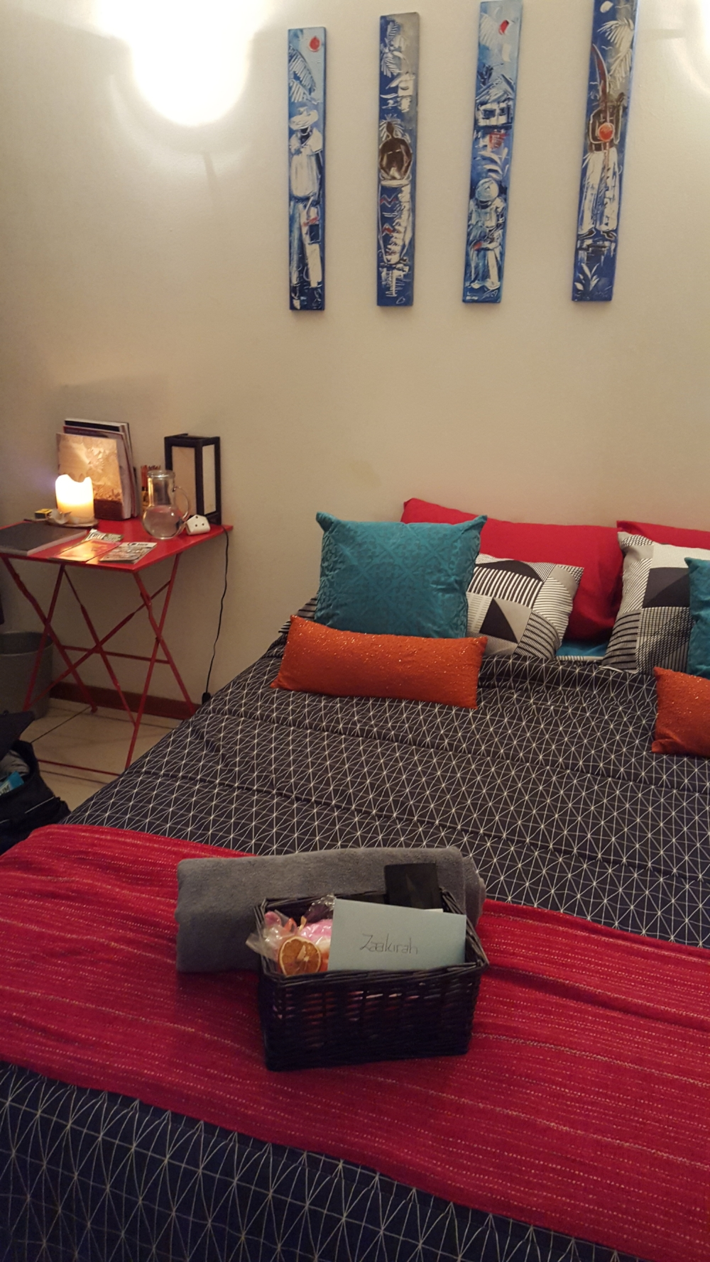View of Bed and Nightstand | Johannesburg, South Africa | Zaakirah Nayyar