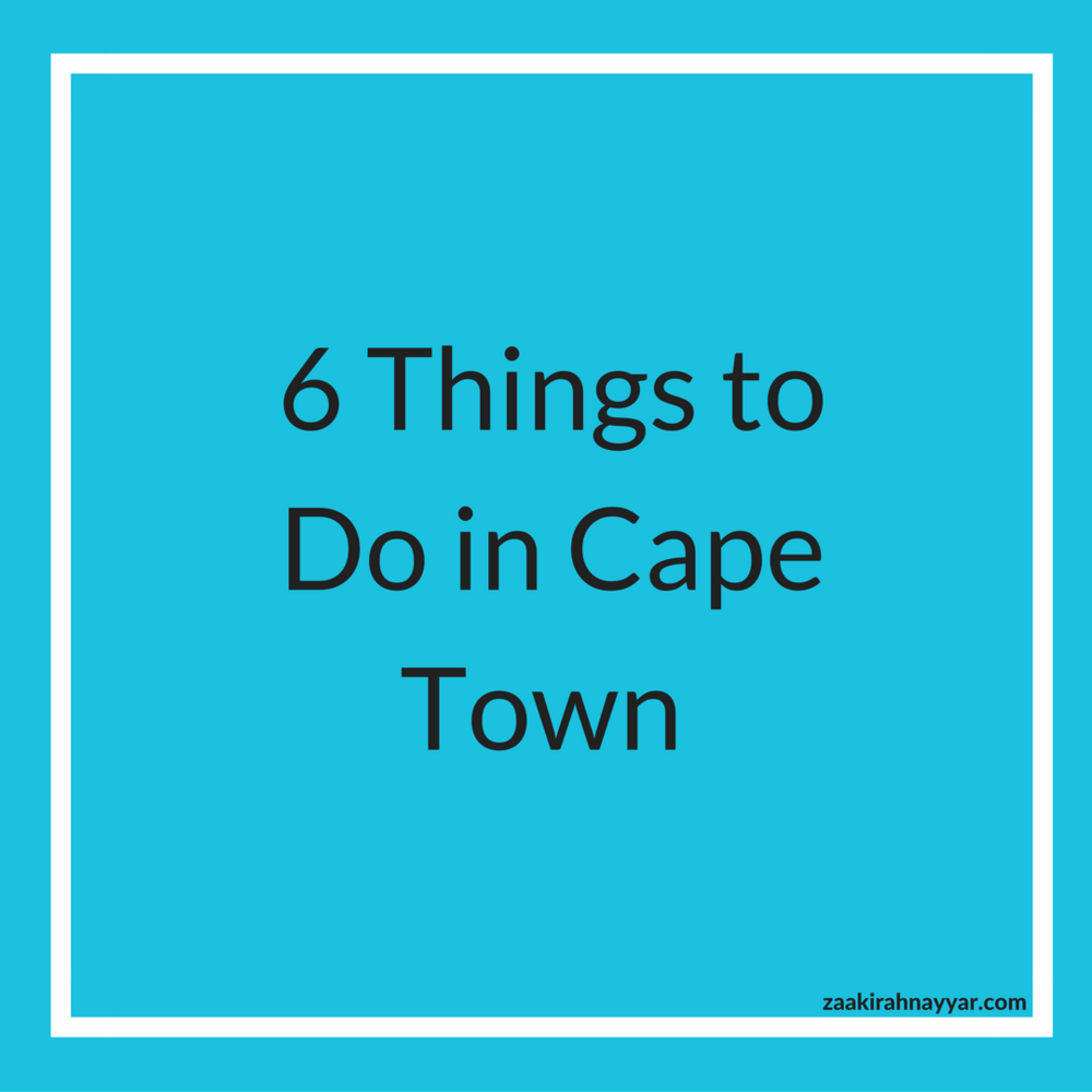 Out of all three cities in South Africa visited, this was my most favorite place as far as activities. Here are my Top 6 things to do.