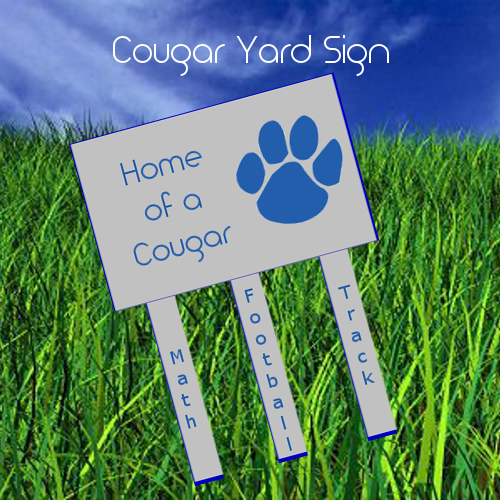 Order a Cougar Yard Sign