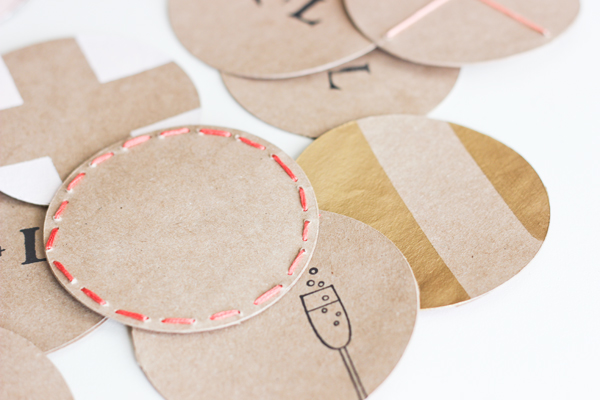 diy stamped coasters