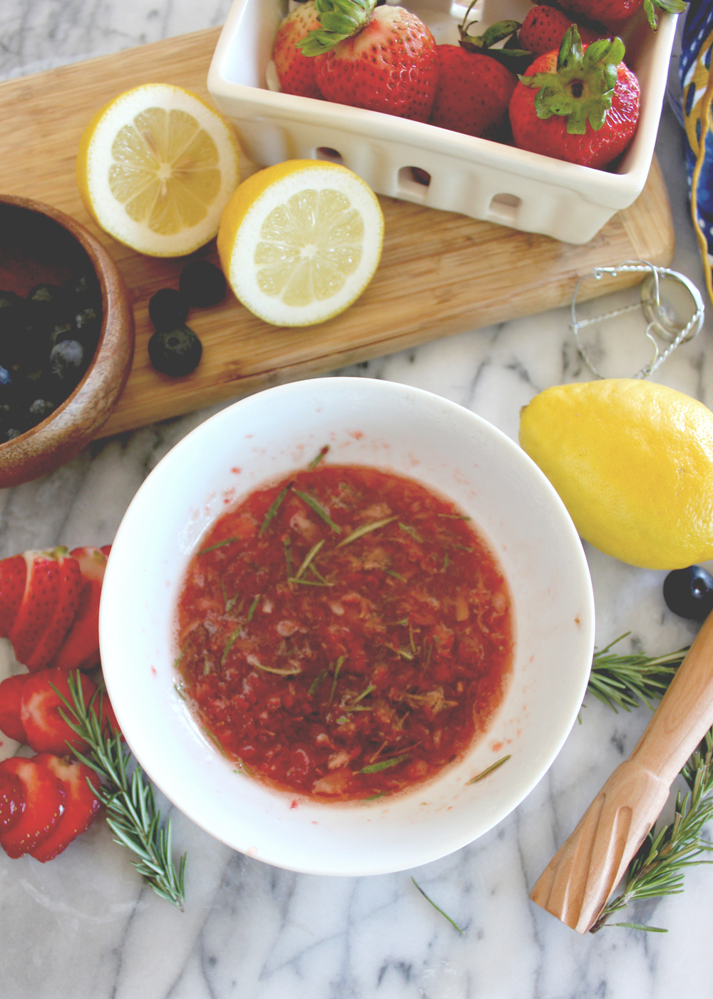 Rosemary Strawberry Syrup Recipe