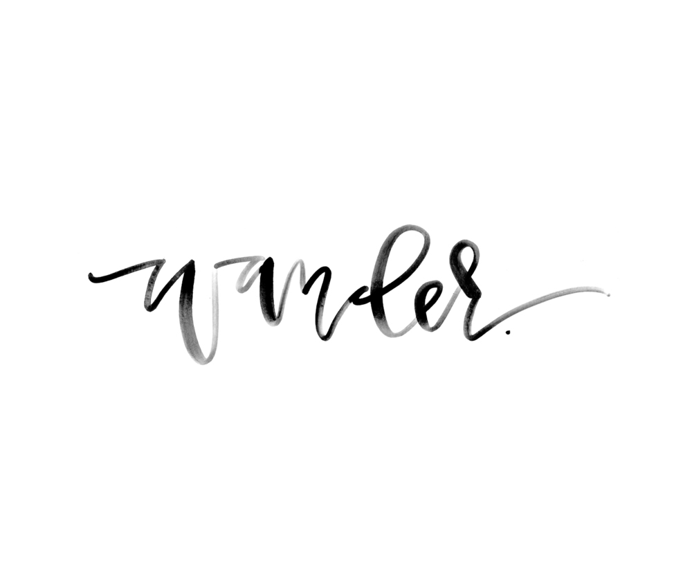 Black Watercolor Wander Lettering || A Fabulous Fete