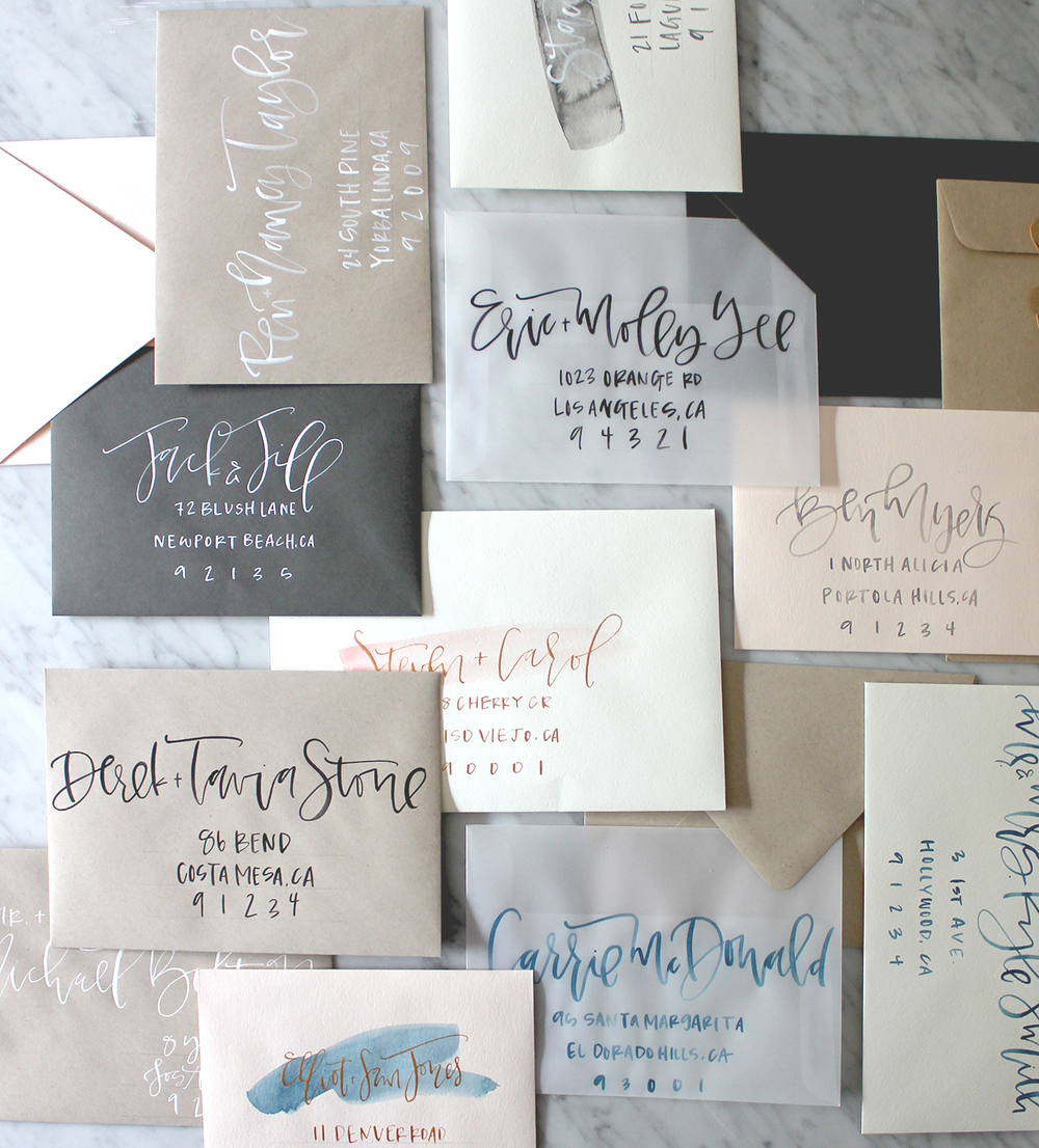 My new secret weapon for addressing envelopes calligraphy a wedding envelope calligraphy a fabulous fete spiritdancerdesigns Images
